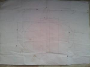 Die Karte wurde mit dem Computer erstellt und hilft bei der genauen Abmessung des Hochbeetes.